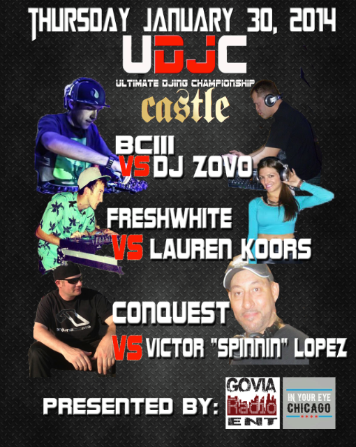 UDJC: Ultimate DJing Championship At Castle Chicago 01/30/2014
