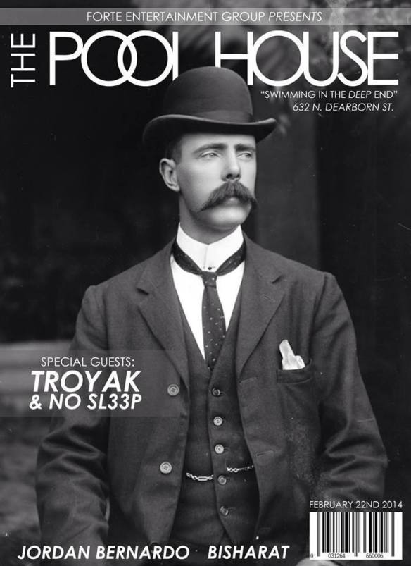 THE POOL HOUSE @ CASTLE CHICAGO TONIGHT (02/22/2014) - NO DRESS CODE - NO COVER