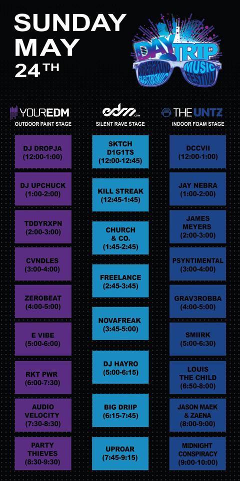 daytrip fest 2015 day 1 schedule